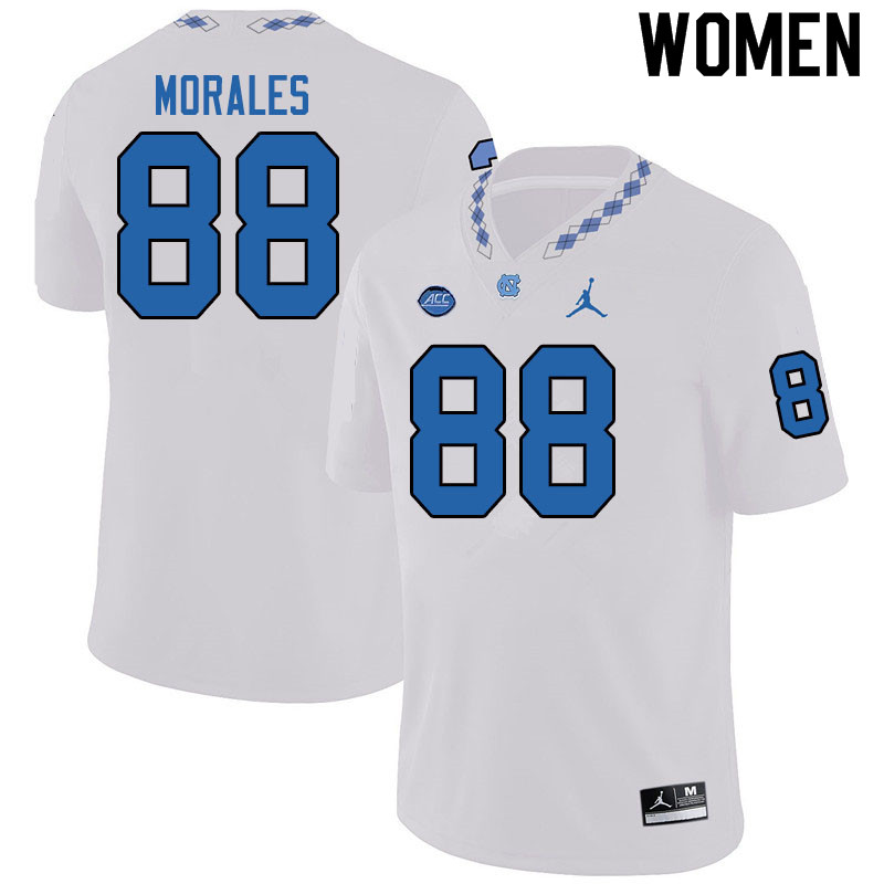 Jordan Brand Women #88 Kamari Morales North Carolina Tar Heels College Football Jerseys Sale-White